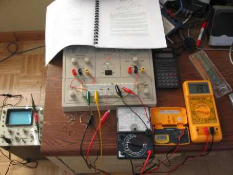 Lab Circuit With Three Meters